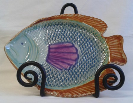 "Fish Serving Plate 10"" x 7.5"""