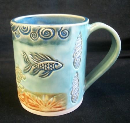 Ocean themed Slab Mug