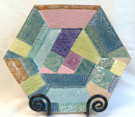 "Hexagonal Serving Platter D= 11"" H=1.5"""