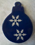 Ornament Blue snowflake