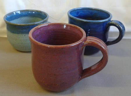 Plum, 112 clay Turquoise with blue Rim, 112 clay Dark Purple with Blue Rim